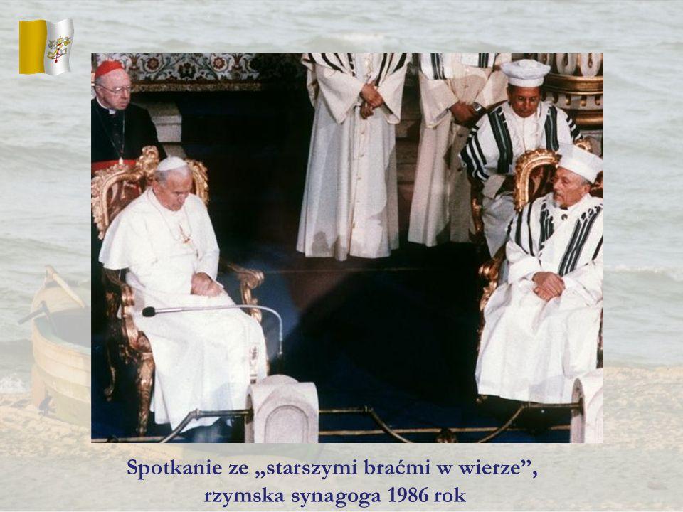 Spotkanie ze starszymi braćmi w wierze, rzymska synagoga 1986 rok