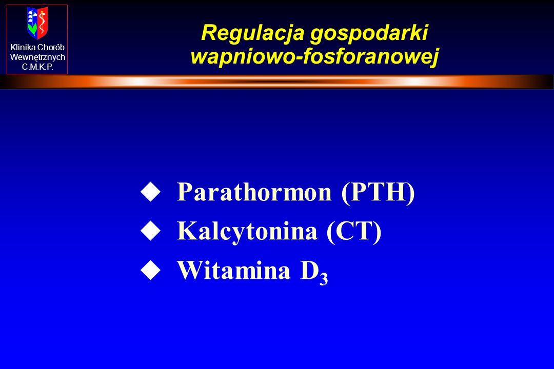 Klinika Chorób Wewnętrznych C.M.K.P. Homeostaza Ca-P