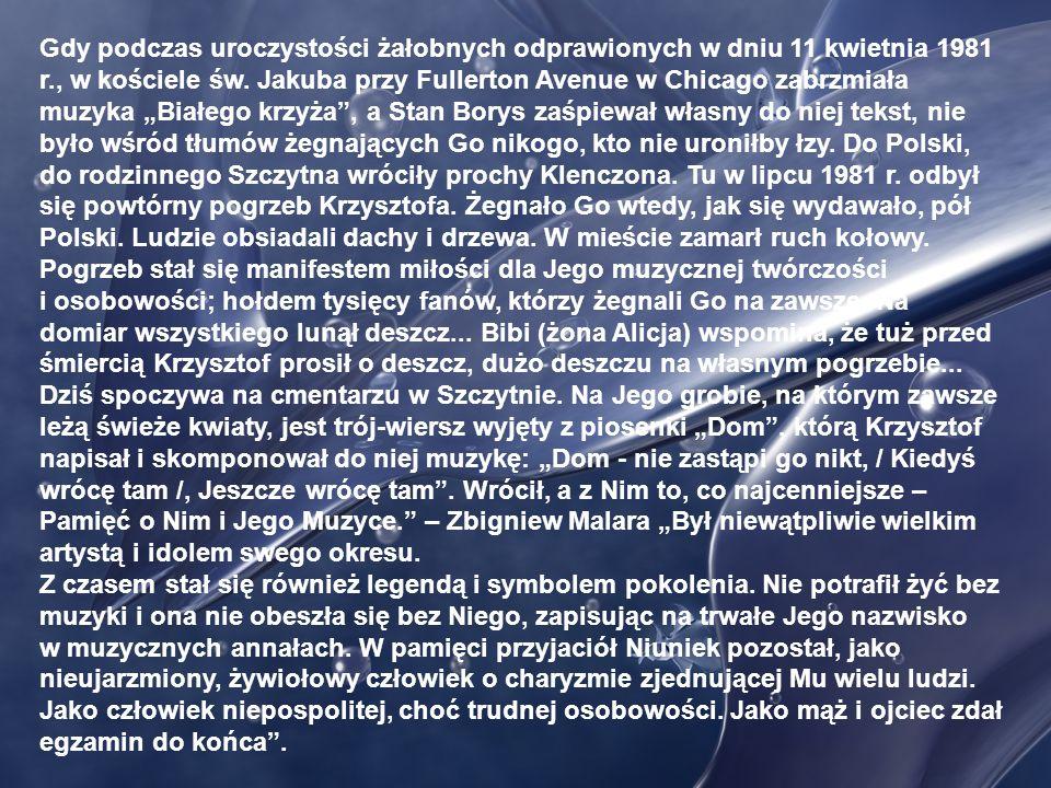 W 1970 r. Krzysztof Klenczon założył zespół Trzy Korony. Nagrał z nim jedną płytę z przebojem 10 w skali Beauforta i … postanowił z żoną Alicją i córe