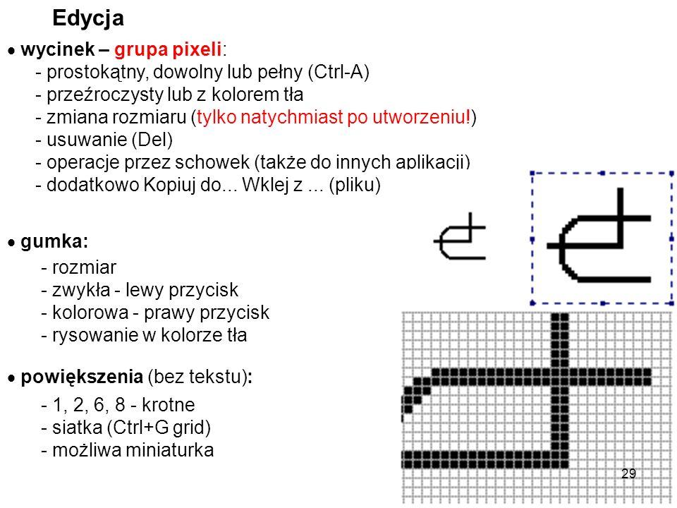 - linia pozioma, pionowa lub pod kątem 45 0 - prostokąt kwadrat - elipsa okrąg Figury + tekst kolory - główny i tła: szczególne figury - dodany Shift: