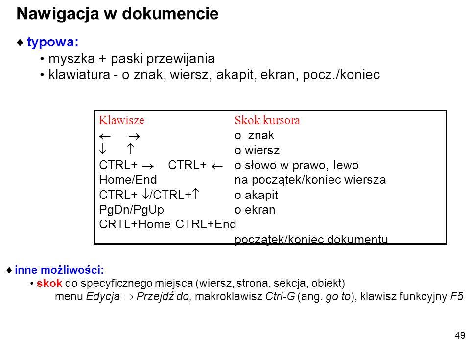 Formatowanie czcionki – łatwe ale.... x 2 - indeksy górne i dolne - Wstaw symbol italic 48