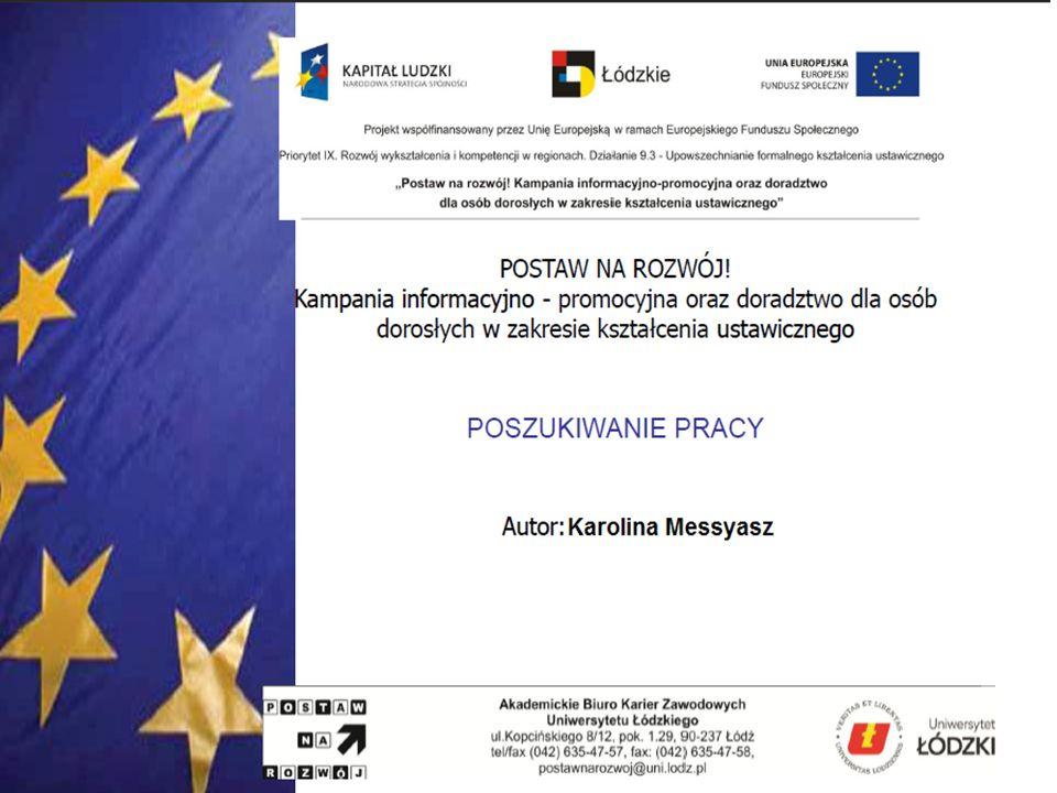 Metody poszukiwania pracy Korzystanie z usług firm doradztwa personalnego W Polsce jest ponad 1000 agencji doradztwa personalnego świadczących różne usługi.