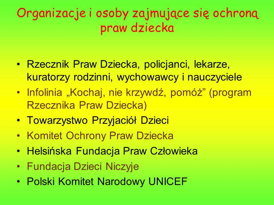 KATALOG PRAW DZIECKA Konwencja o Prawach Dziecka składa się z 54 artykułów.