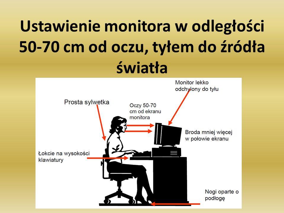 Aktywna przerwa minimum 15 minutowa po około 2 godzinach pracy (najpóźniej) Aktywna tzn.