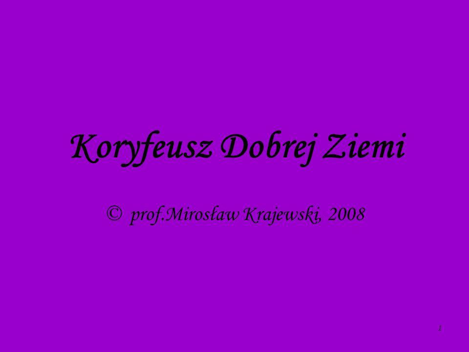 Koryfeusz Dobrej Ziemi © prof.Mirosław Krajewski, 2008 1
