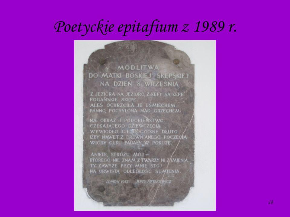 18 Poetyckie epitafium z 1989 r.