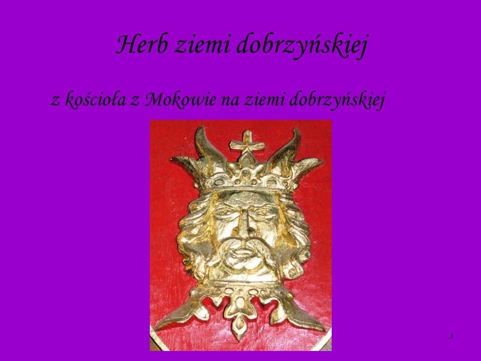 3 Herb ziemi dobrzyńskiej z kościoła z Mokowie na ziemi dobrzyńskiej