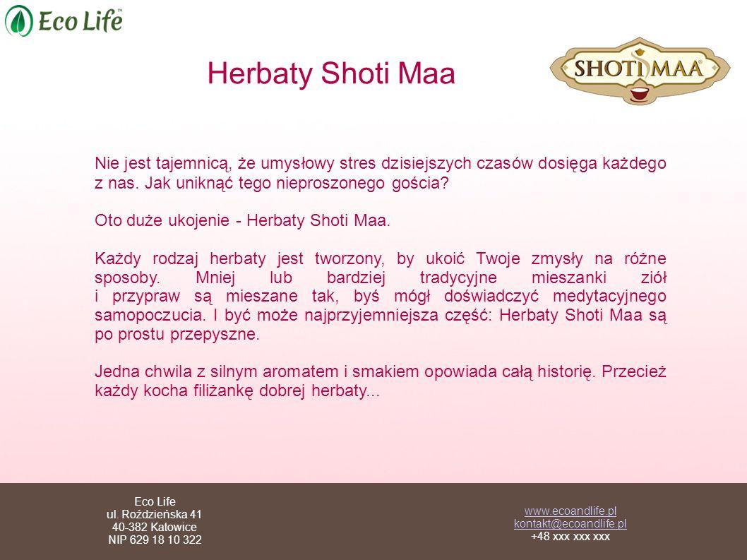 Herbaty Shoti Maa Nie jest tajemnicą, że umysłowy stres dzisiejszych czasów dosięga każdego z nas. Jak uniknąć tego nieproszonego gościa? Oto duże uko