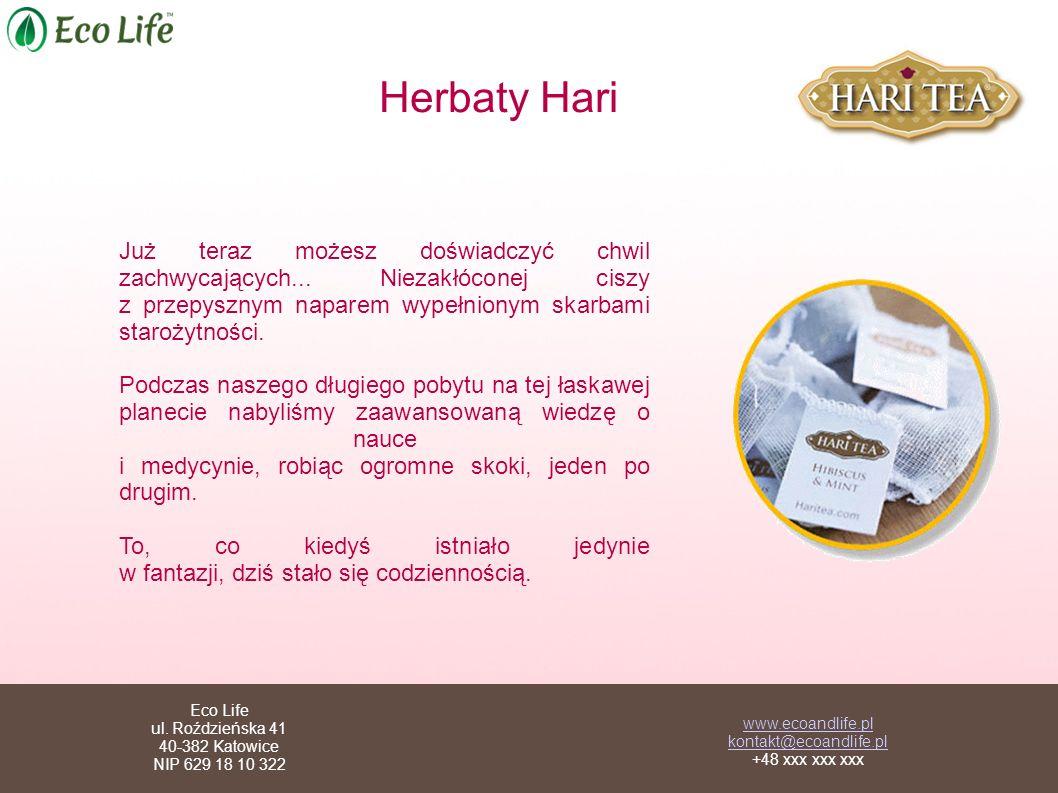 Herbaty Hari Już teraz możesz doświadczyć chwil zachwycających...