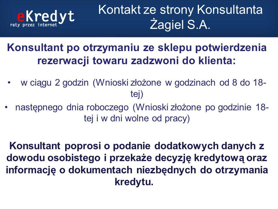 Dokumenty niezbędne do otrzymania kredytu Jeśli kwota kredytu nie przekracza 5000 zł.