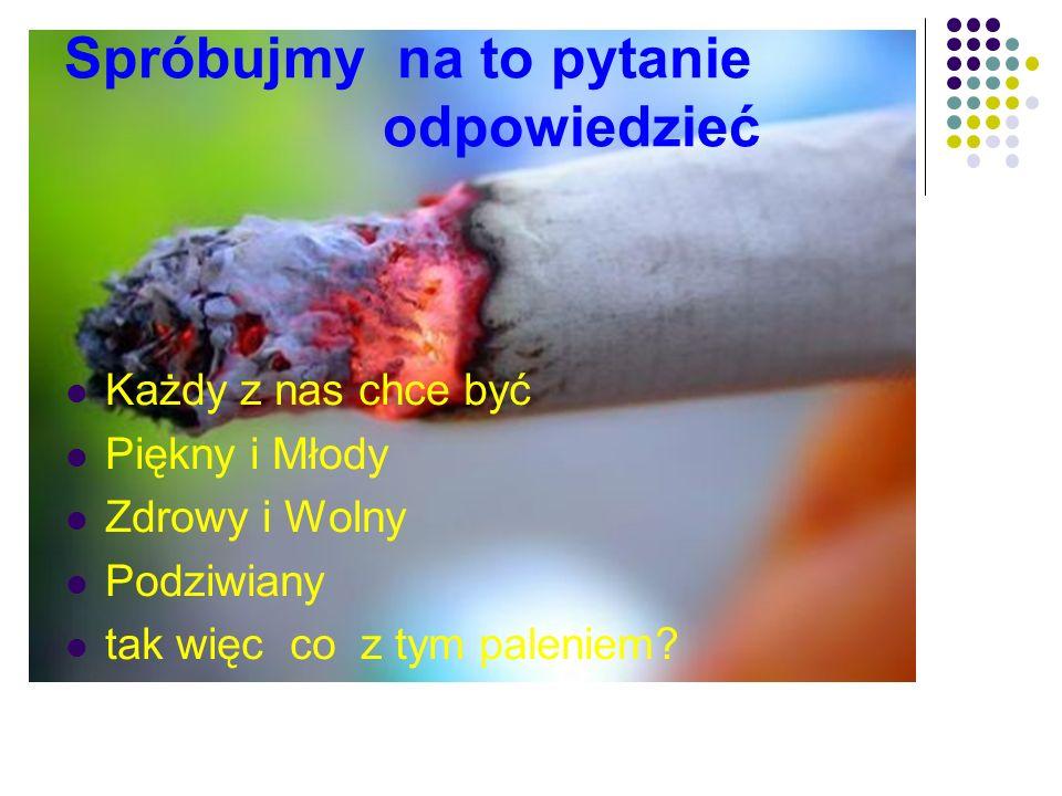 Spróbujmy na to pytanie odpowiedzieć Każdy z nas chce być Piękny i Młody Zdrowy i Wolny Podziwiany tak więc co z tym paleniem?