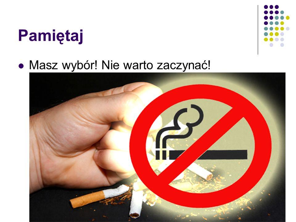 Skutki biernego palenia Nie tylko aktywne palenie jest niebezpieczne. Biernie wdychany dym tytoniowy zawiera 35 razy więcej dwutlenku węgla i 4 razy w