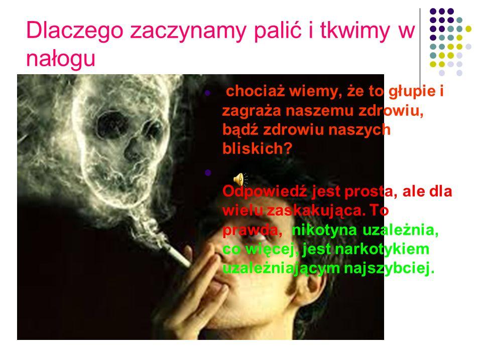 Dlaczego zaczynamy palić i tkwimy w nałogu chociaż wiemy, że to głupie i zagraża naszemu zdrowiu, bądź zdrowiu naszych bliskich.