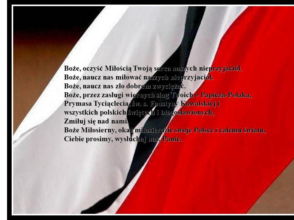 Za rozbite rodziny polskie, Przepraszamy Cię, Panie. Za nienarodzone dzieci polskie, Przepraszamy Cię, Panie. Za nasze wady narodowe, nałogi i grzechy