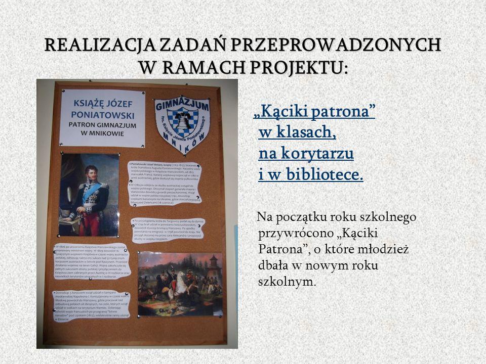 Uczniowie zaprezentowali następujące tematy związane z życiem patrona: Młodość w Austrii i wojna z Turcją kl.