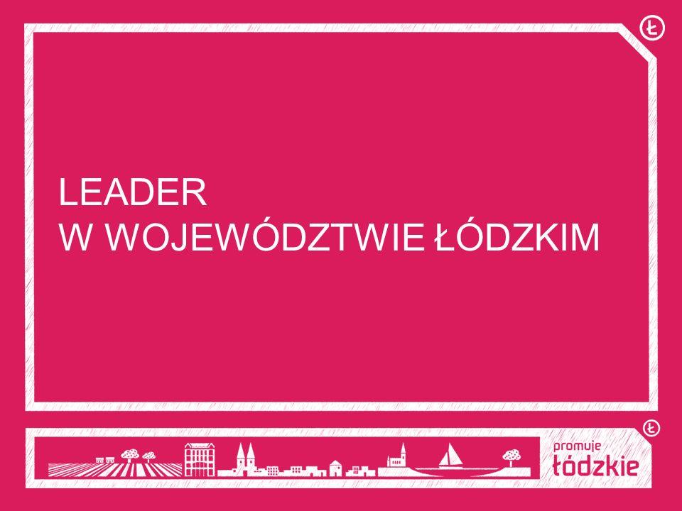LEADER W WOJEWÓDZTWIE ŁÓDZKIM