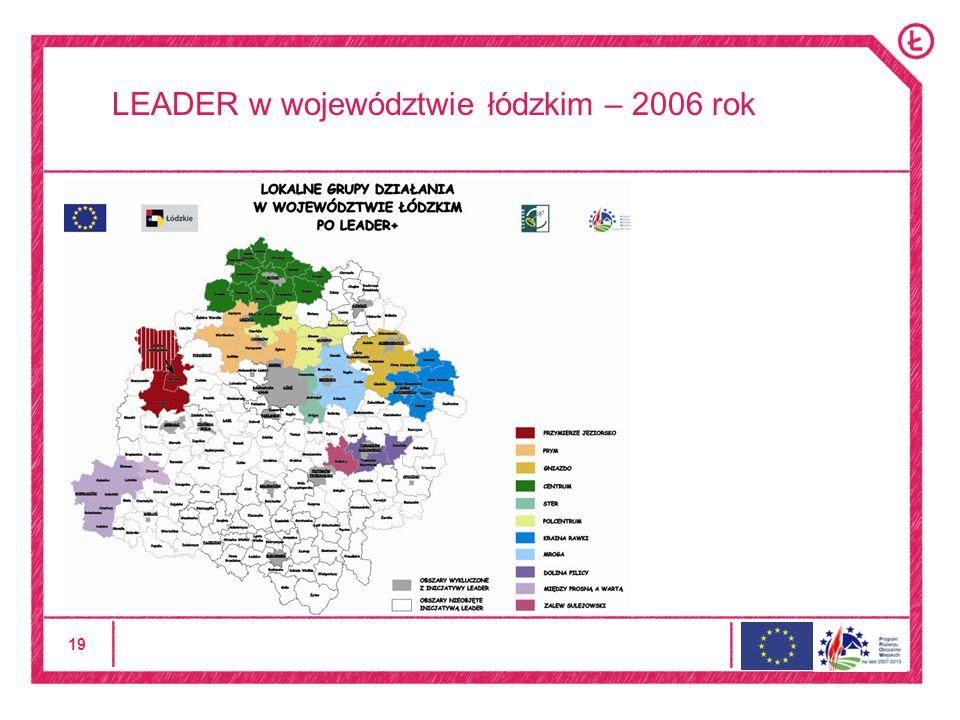 19 LEADER w województwie łódzkim – 2006 rok