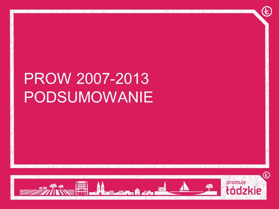 PROW 2007-2013 PODSUMOWANIE