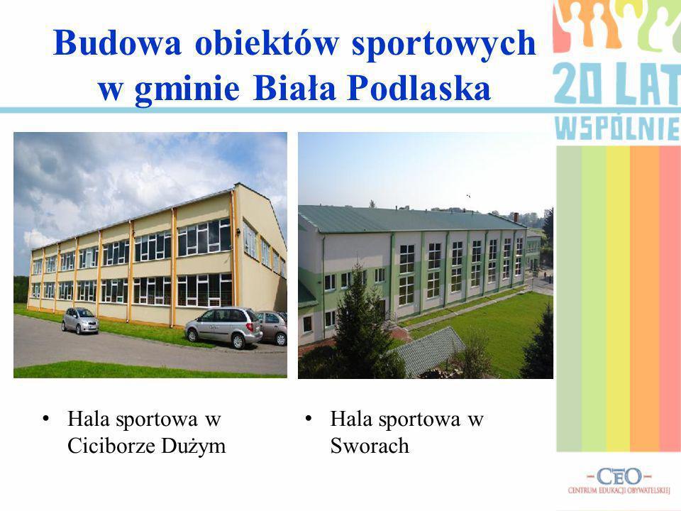 Budowa obiektów sportowych w gminie Biała Podlaska Hala sportowa w Ciciborze Dużym Hala sportowa w Sworach