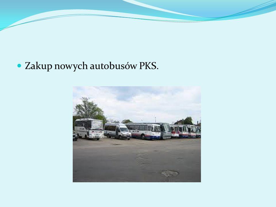 Zakup nowych autobusów PKS.
