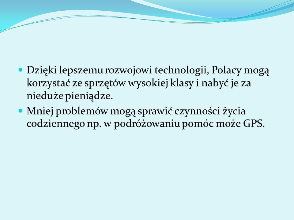 Dzięki lepszemu rozwojowi technologii, Polacy mogą korzystać ze sprzętów wysokiej klasy i nabyć je za nieduże pieniądze. Mniej problemów mogą sprawić