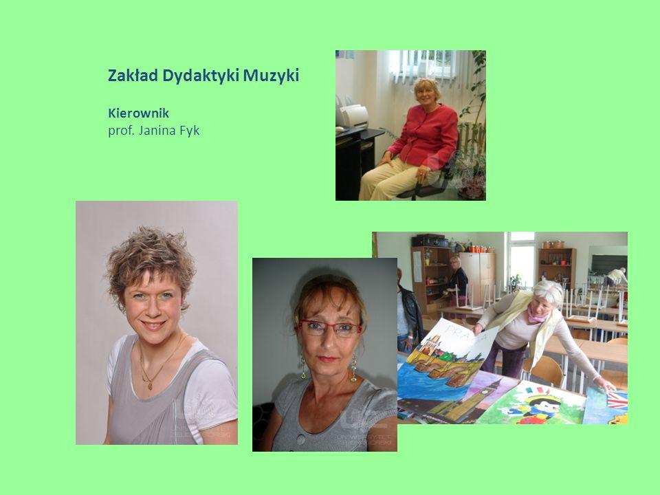 Zakład Dyrygowania i Wokalistyki Kierownik dr hab. Bogumiła Tarasiewicz, prof. UZ