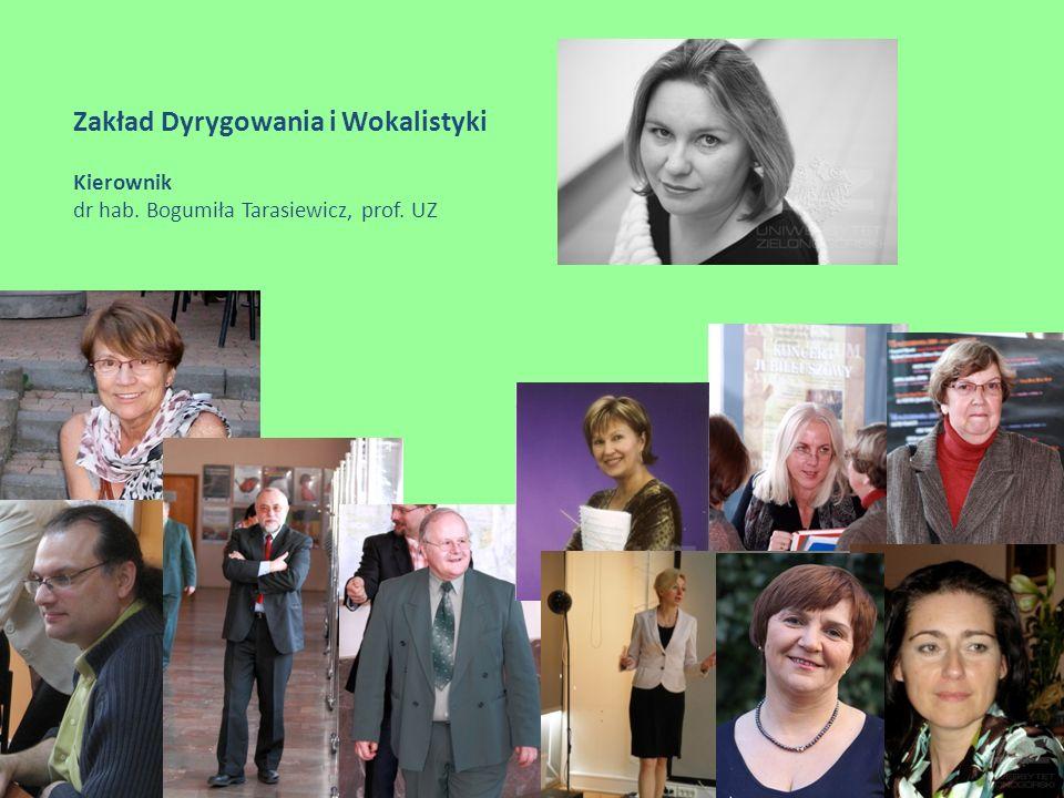 Zakład Dydaktyki Instrumentalnej Kierownik prof. Ryszard Zimnicki
