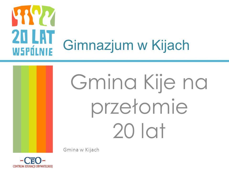 Gimnazjum w Kijach Gmina Kije na przełomie 20 lat Gmina w Kijach