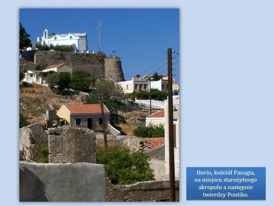 Horio, kościół Panagia, na miejscu starożytnego akropolu a następnie twierdzy Pontiko.