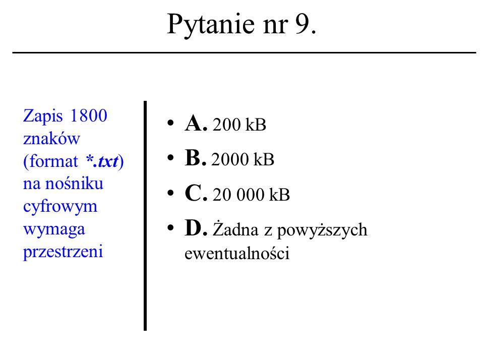 Pytanie nr 8. Pierwsza strona WWW pojawiła się w Sieci na początku: A.