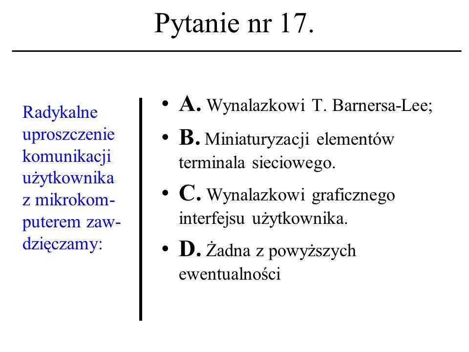 Pytanie nr 16. Tzw.
