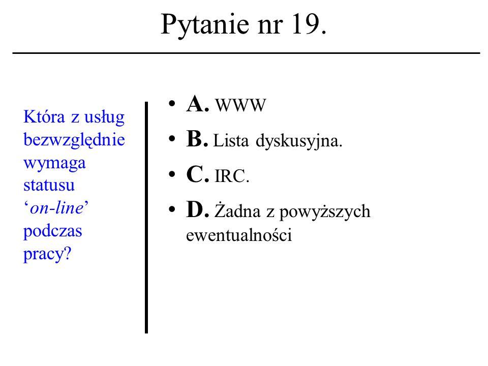 Pytanie nr 18. Z jaką usługą sieciową kojarzysz terminpost.