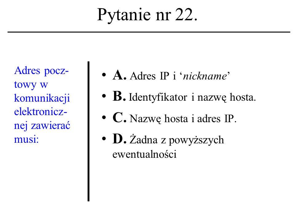 Pytanie nr 21. Nad konstrukcją ENIACa pracowali: A.
