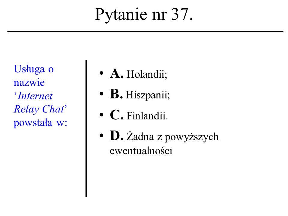 Pytanie nr 36. Terminetyka informatycz- na ukuty został w: A.