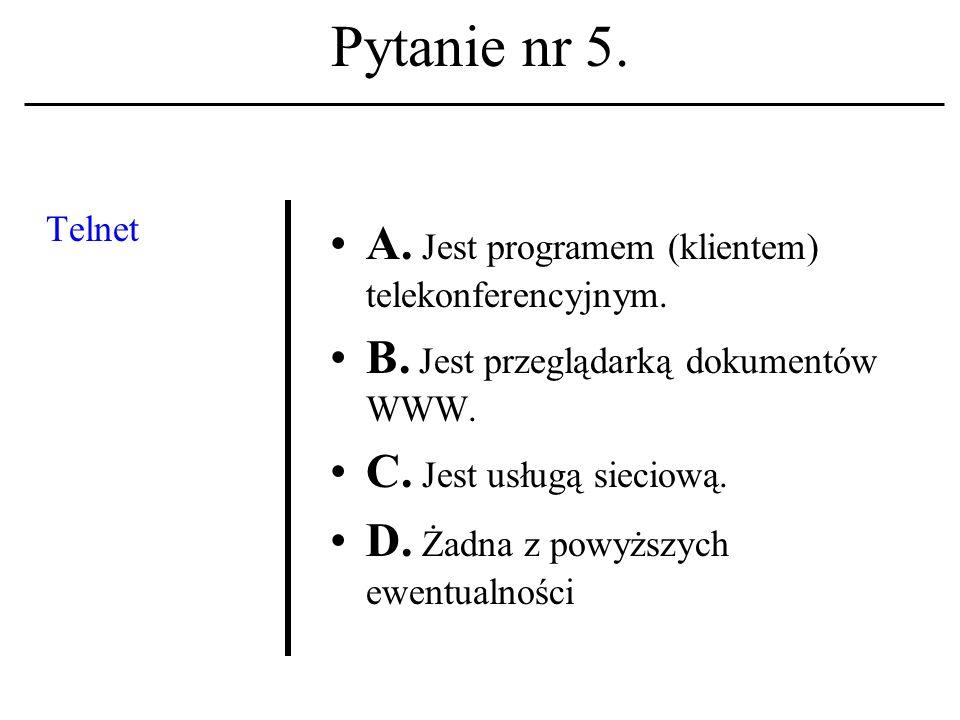 Pytanie nr 4. Filozoficz- nym funda- mentem etyki komputero- wej jest: A.