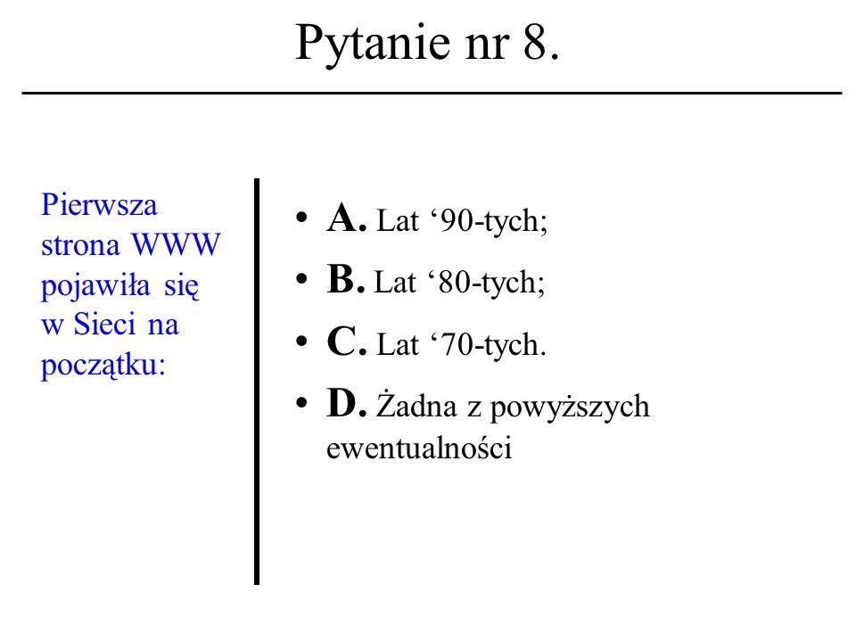 Pytanie nr 7. Lista dyskusyjna A. To system zapisów w mechanizmie przydziału kont.