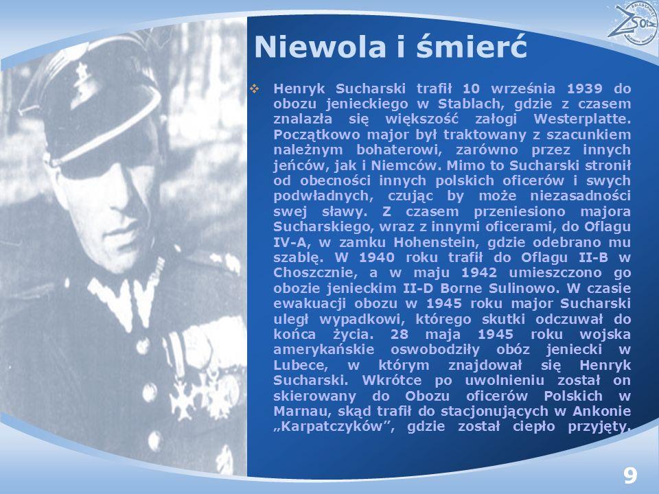Niewola i śmierć Henryk Sucharski trafił 10 września 1939 do obozu jenieckiego w Stablach, gdzie z czasem znalazła się większość załogi Westerplatte.