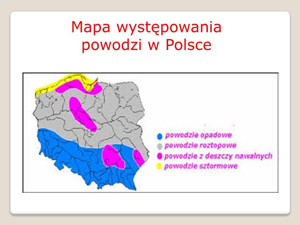 Mapa występowania powodzi w Polsce