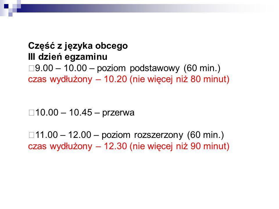 Kalendarz egzaminacyjny 2 czerwca 2014 r.