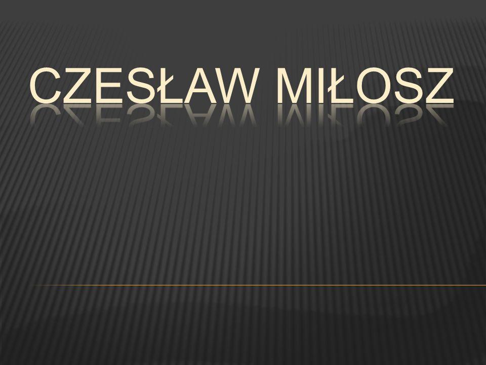 W tym czasie Miłosz pracuje w rozgłośni radiowej Polskiego Radia w Wilnie.
