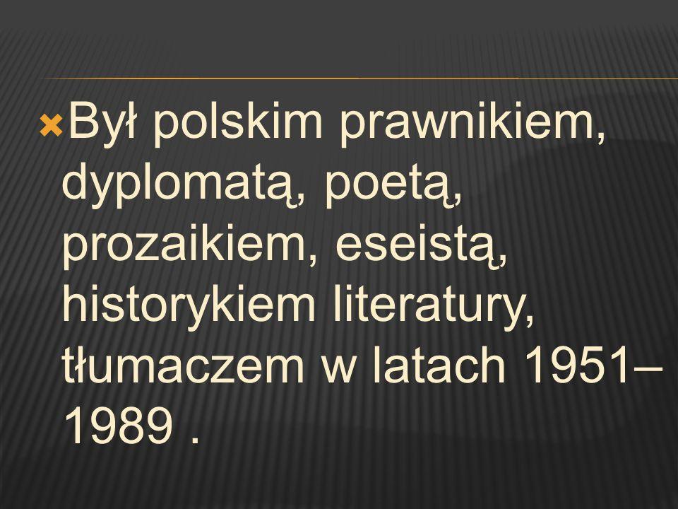 Publikuje w Czytelniku tom wierszy Ocalenie.