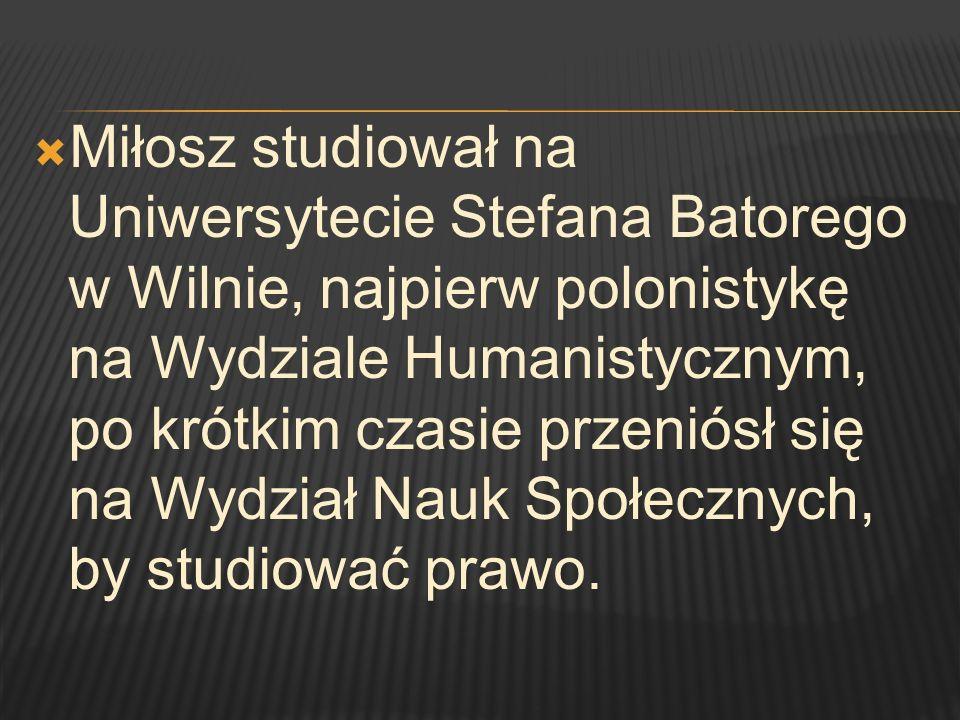W 1978 roku Miłosz otrzymał Międzynarodową Nagrodę Literacką Neustadt zwaną Małym Noblem .
