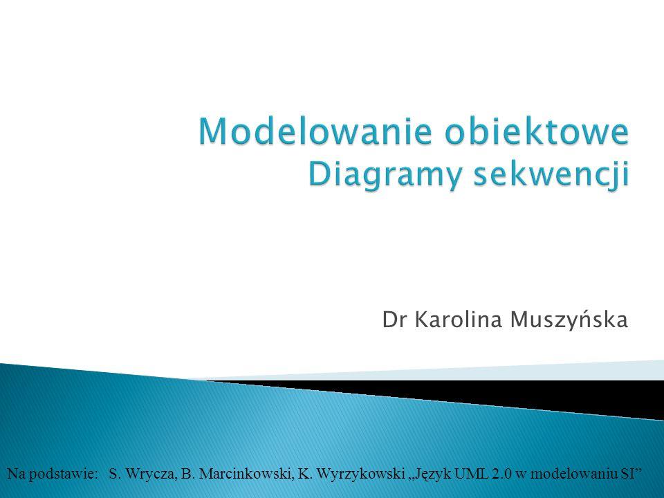 Dr Karolina Muszyńska Na podstawie: S. Wrycza, B. Marcinkowski, K. Wyrzykowski Język UML 2.0 w modelowaniu SI
