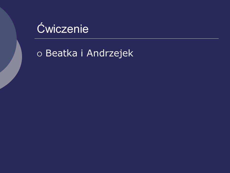 Ćwiczenie Beatka i Andrzejek