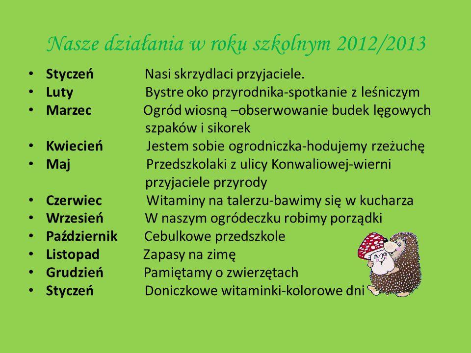 STYCZEŃ 2012 Nasi skrzydlaci przyjaciele.Ptasia stołówka.
