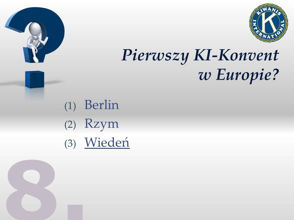 Pierwszy KI-Konvent w Europie (1) Berlin (2) Rzym (3) Wiedeń 8.8.