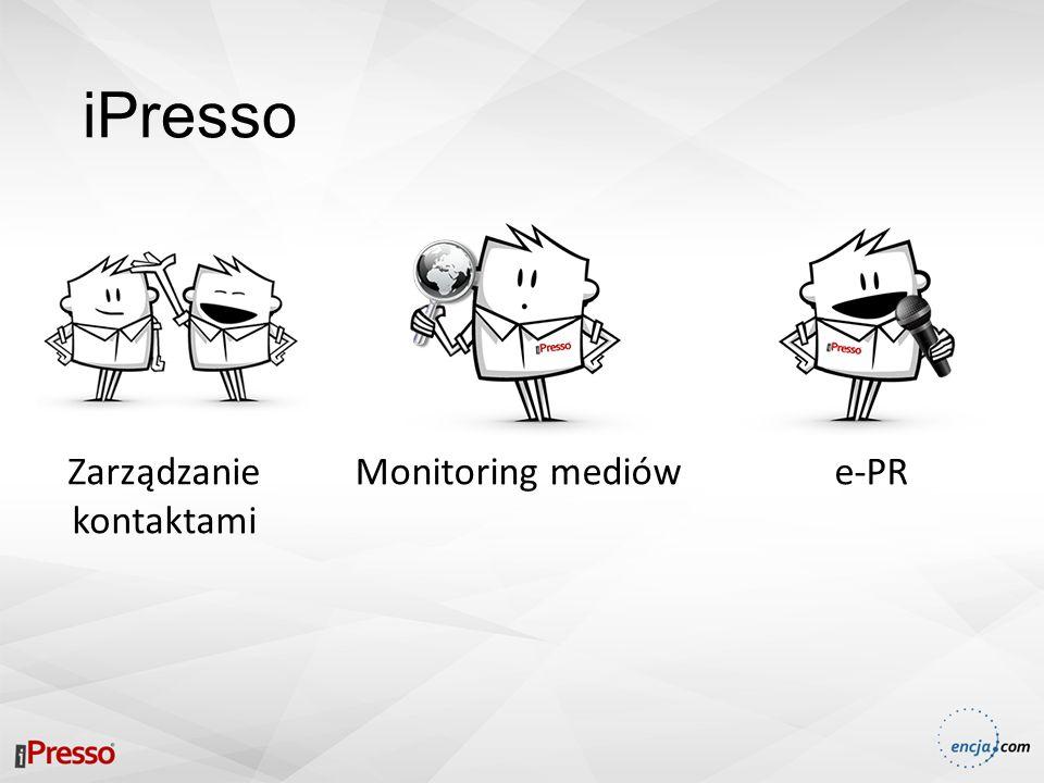 iPresso Zarządzanie kontaktami e-PRMonitoring mediów