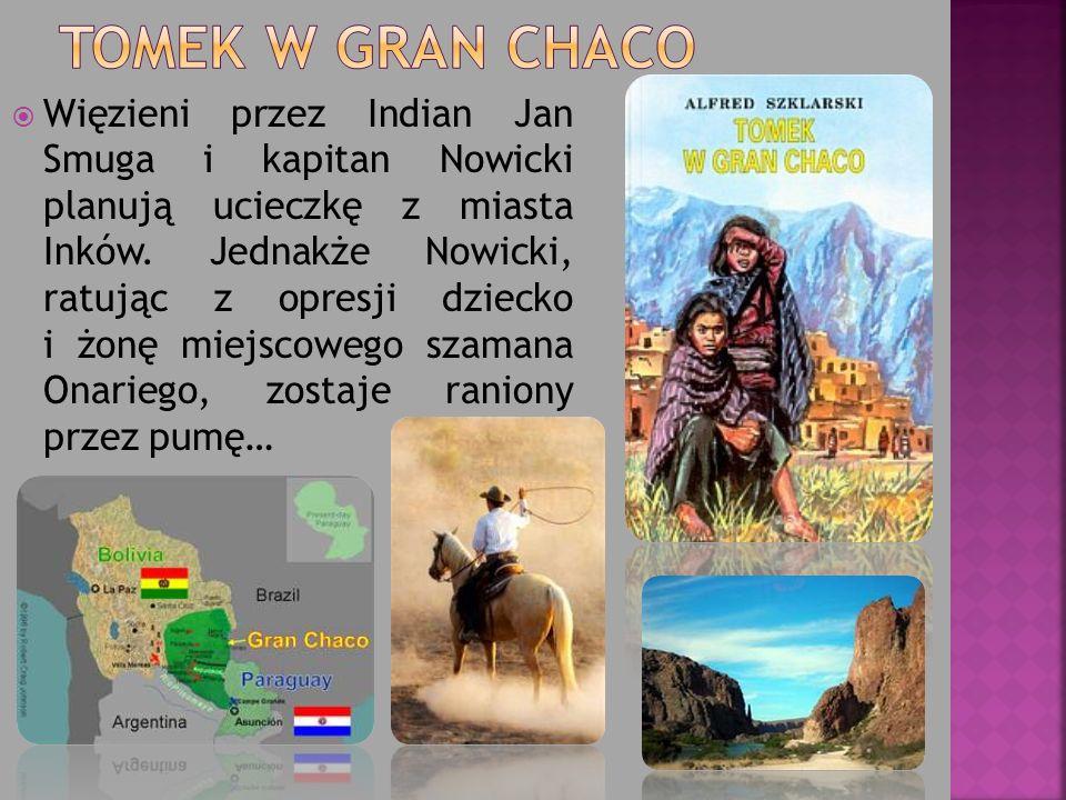Więzieni przez Indian Jan Smuga i kapitan Nowicki planują ucieczkę z miasta Inków. Jednakże Nowicki, ratując z opresji dziecko i żonę miejscowego szam