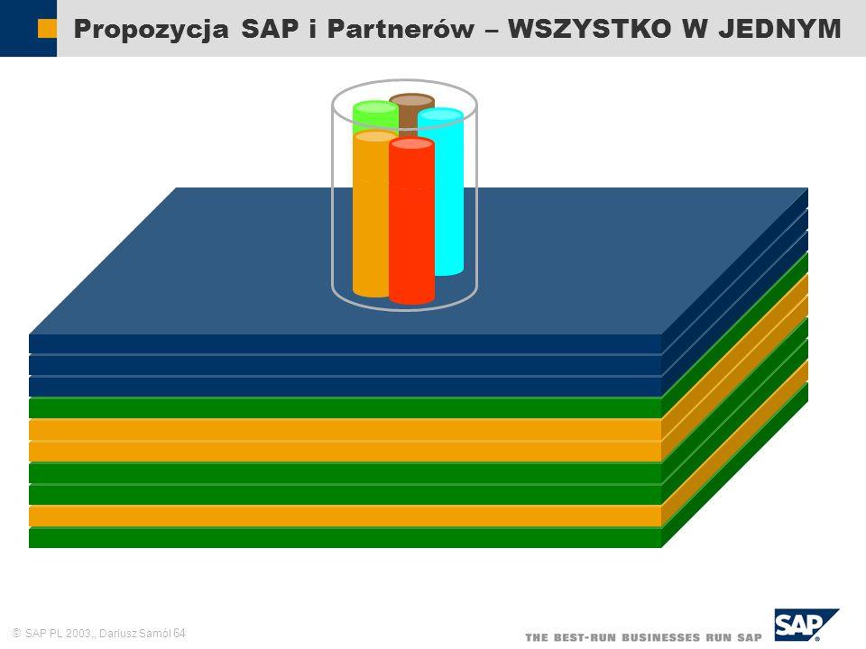 SAP PL 2003,, Dariusz Samól 64 Propozycja SAP i Partnerów – WSZYSTKO W JEDNYM
