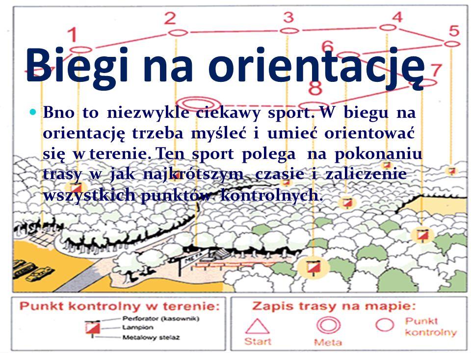 Biegi na orientację Bno to niezwykle ciekawy sport. W biegu na orientację trzeba myśleć i umieć orientować się w terenie. Ten sport polega na pokonani